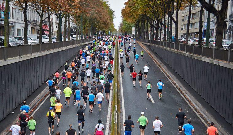 Waarom de foto van de marathon?